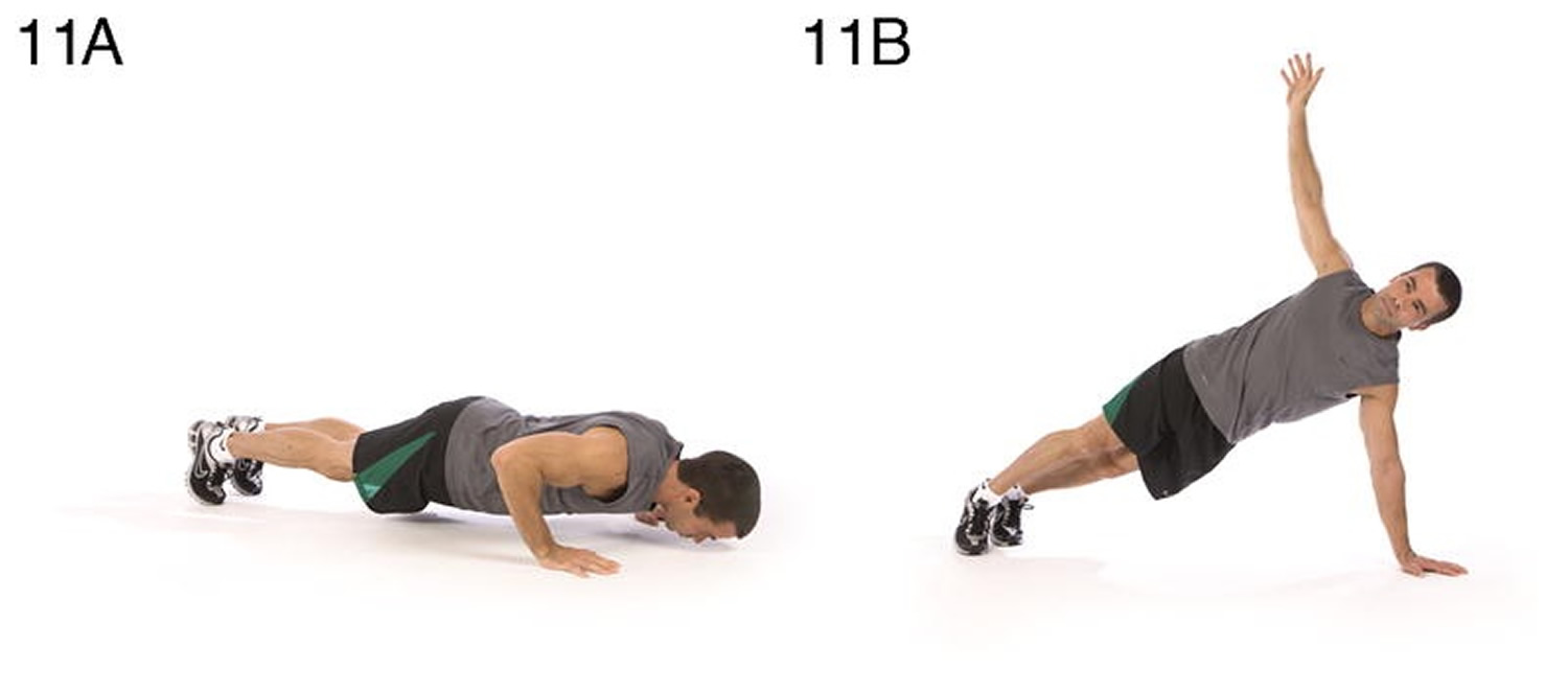 Push-up and rotation Upper body