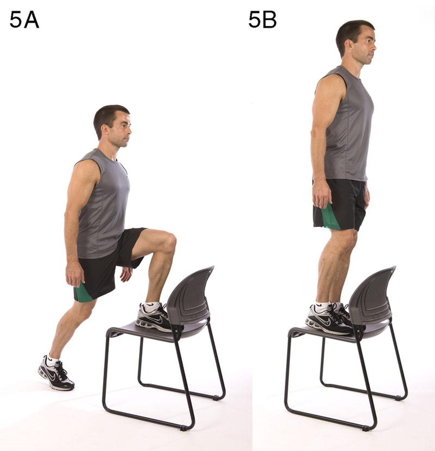 Step-up onto chair Total body