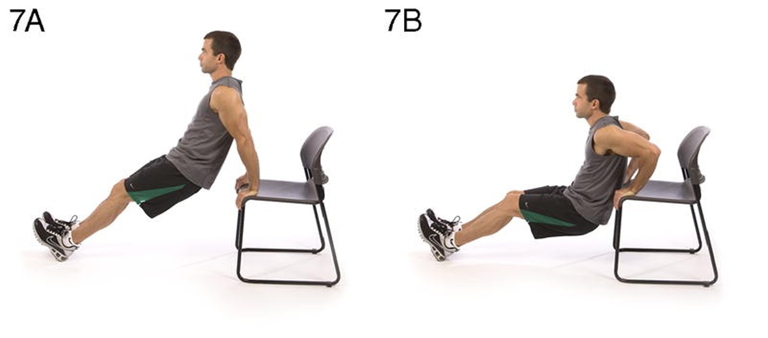 Triceps dip on chair Upper body