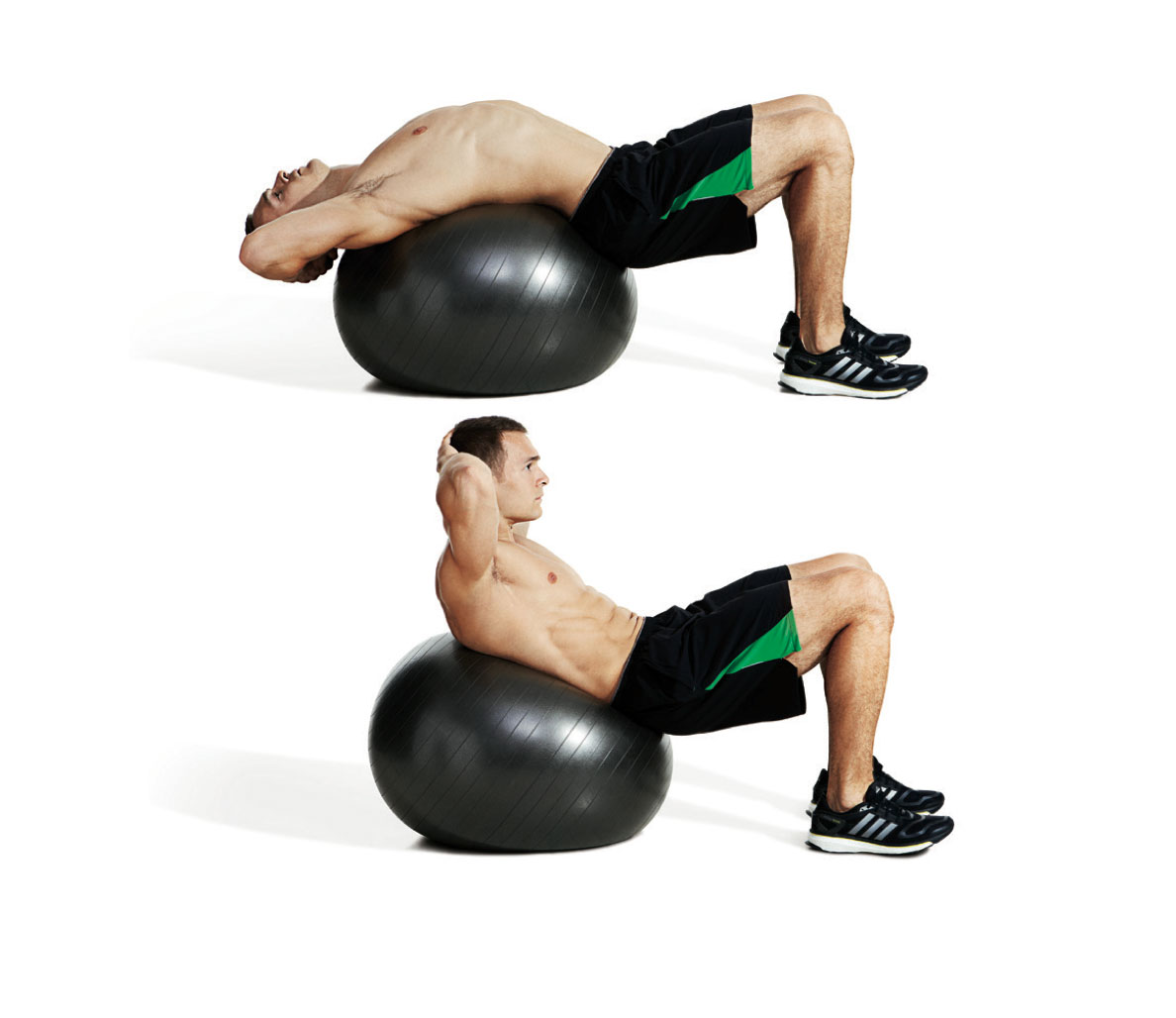 how to get six pack abs fast with stability ball crunch