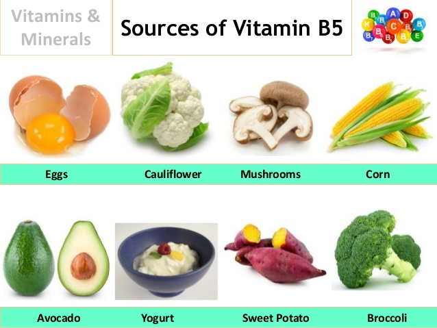 Food with vitamin b5