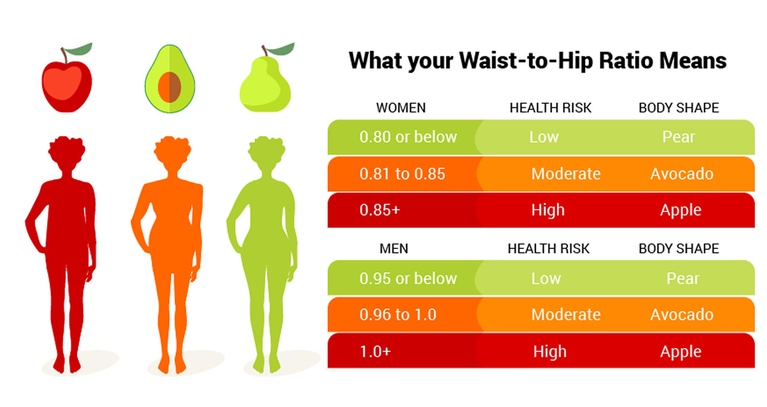 waist to hip ratio women