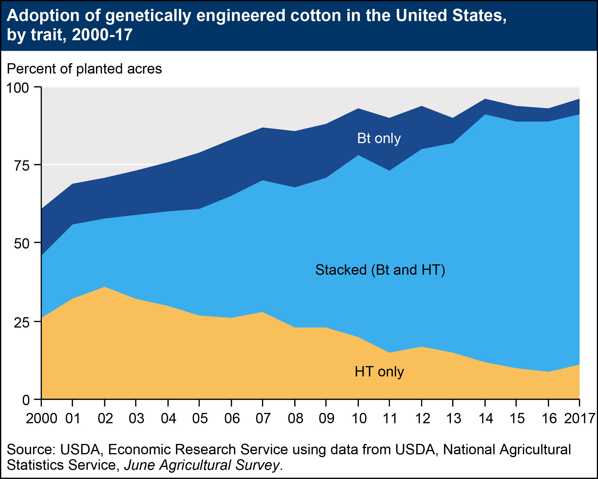 adoption of genetically engineered cotton in US