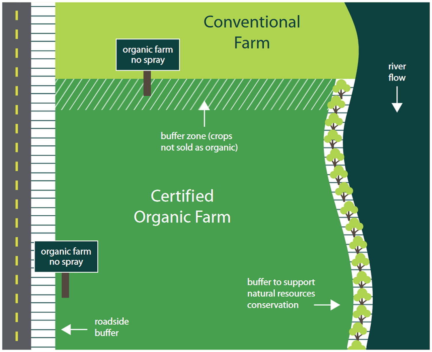 genetically modified food crop farm layout