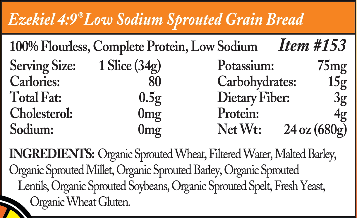low sodium sprouted grain ingredients