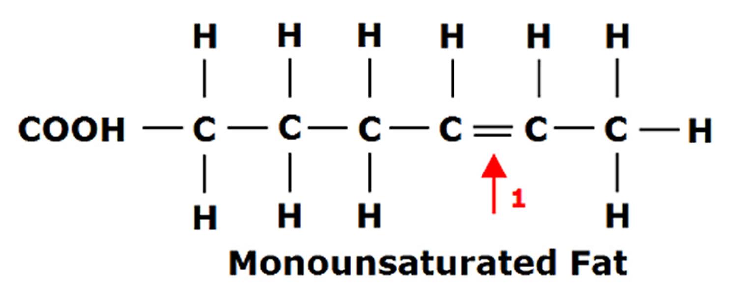 monounsaturated fatty acids structure