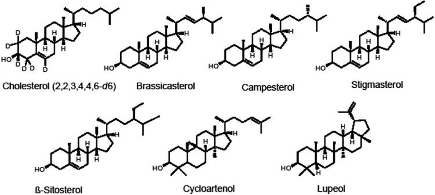 phytosterols chemical structures