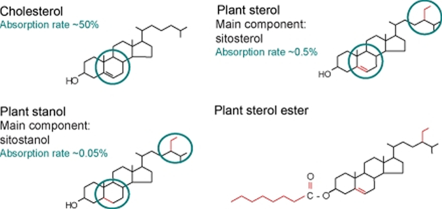 phytosterols structures
