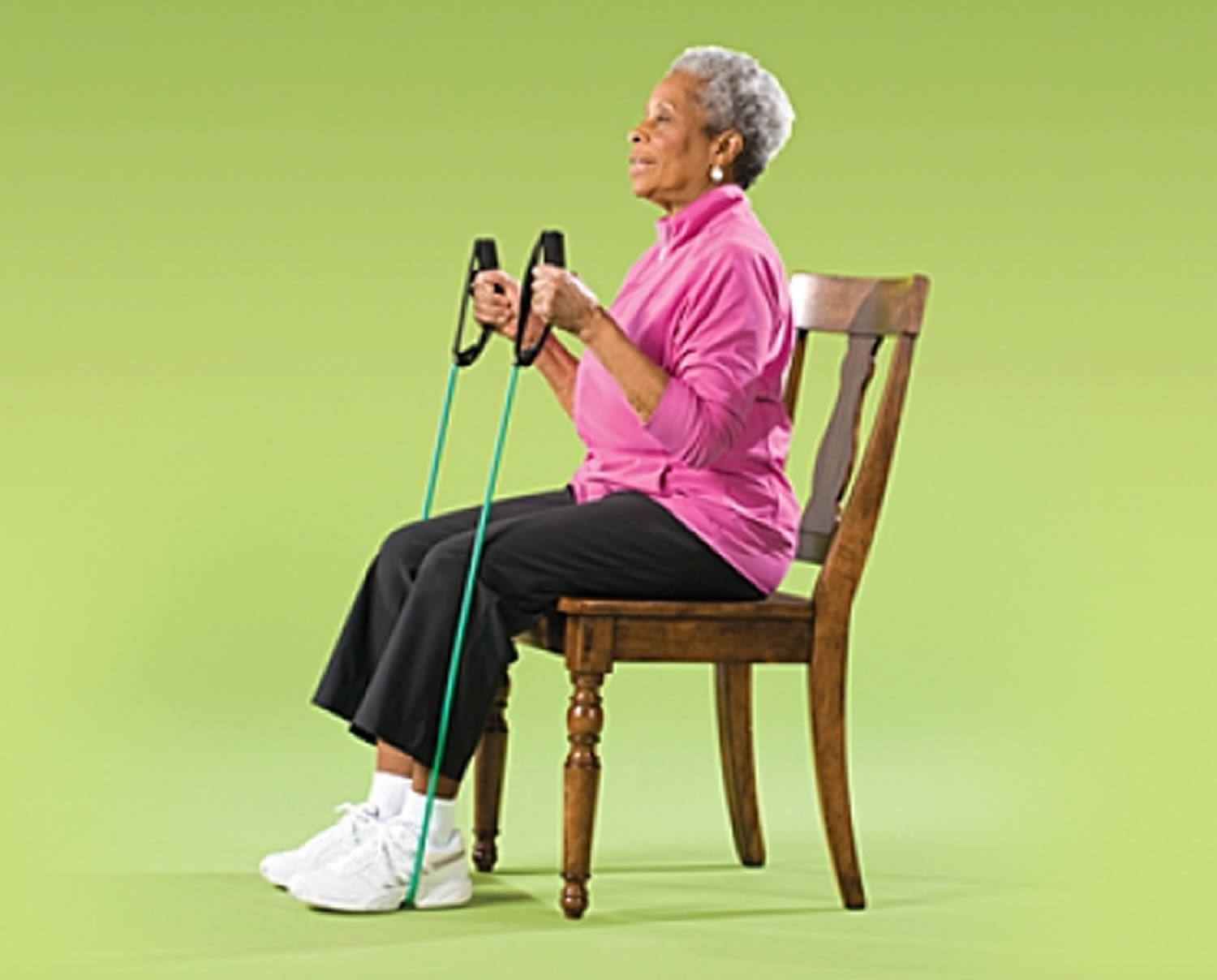 Arm Curl with Resistance Band Strength Exercise for Seniors