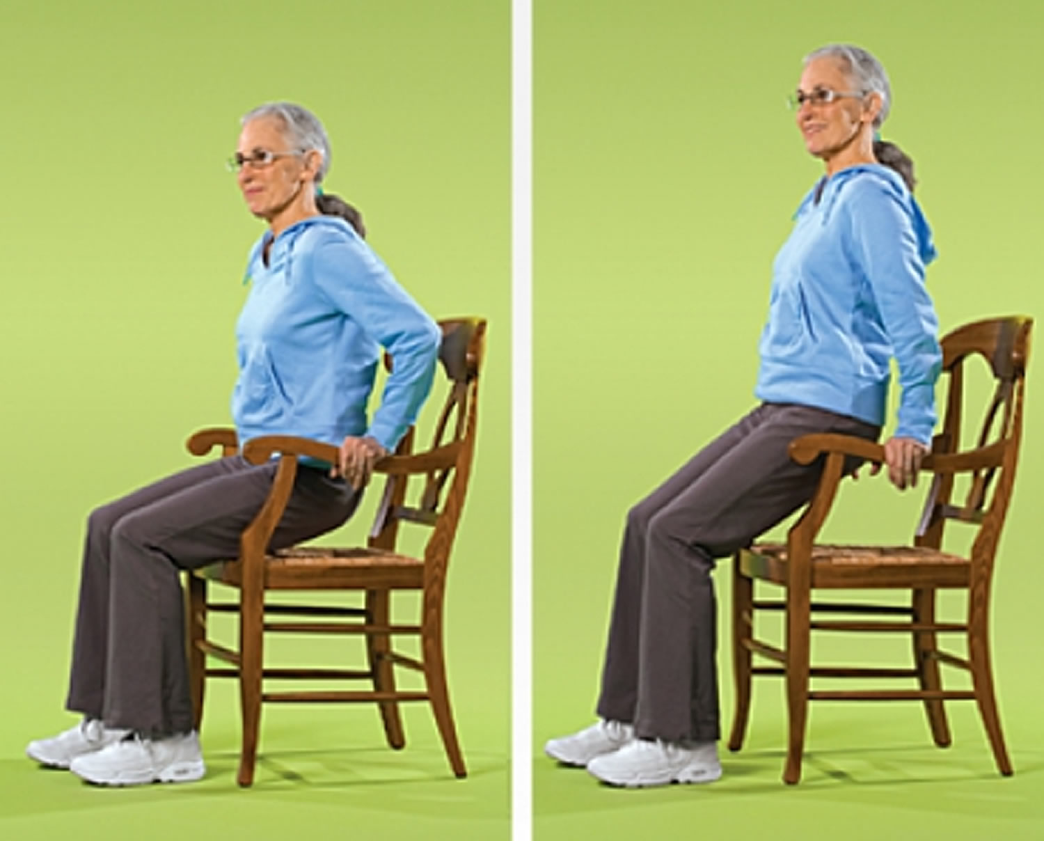 Chair exercises for seniors - Chair Dip Strength Exercise For Seniors
