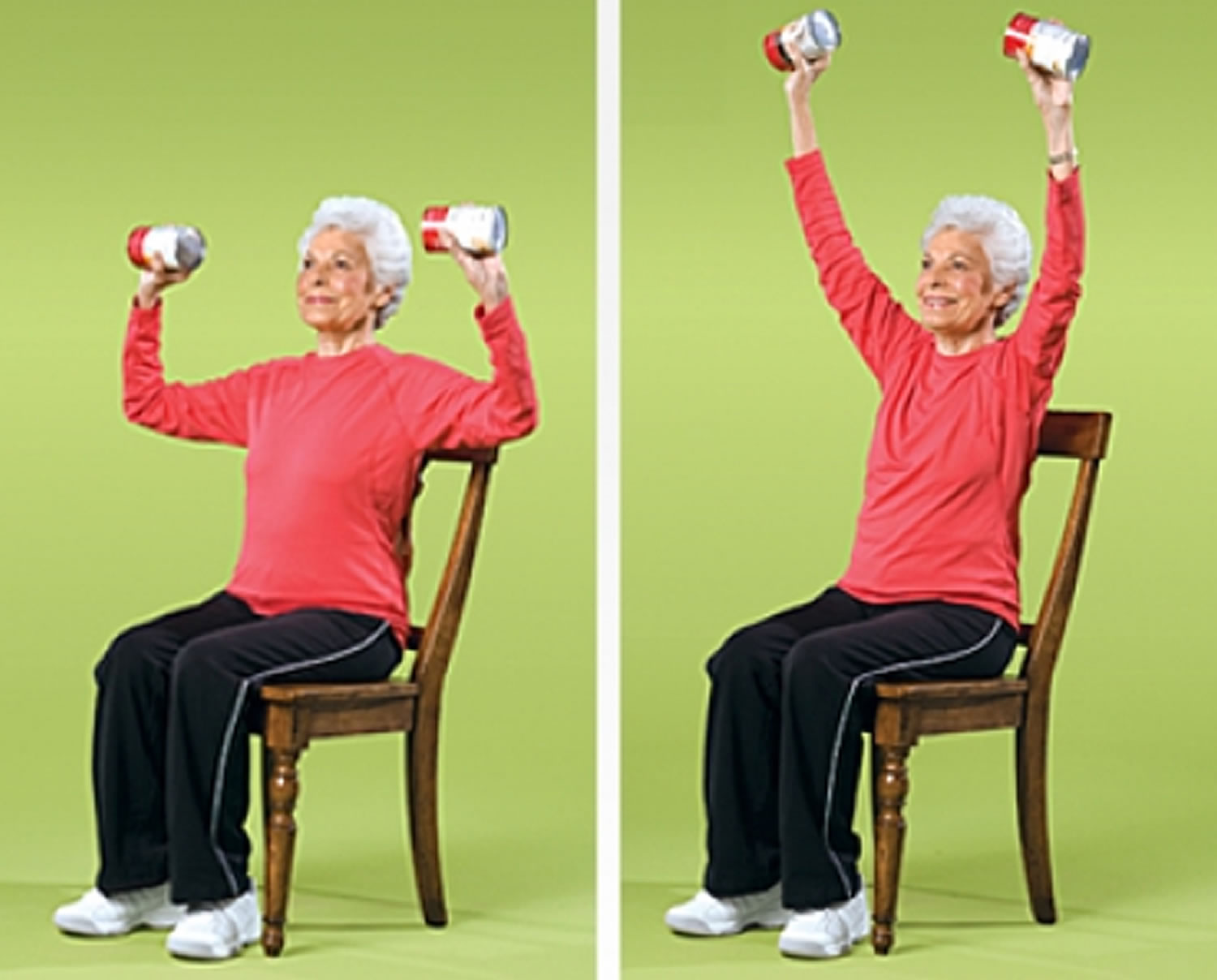 Overhead Arm Raise Strength Exercise for Seniors