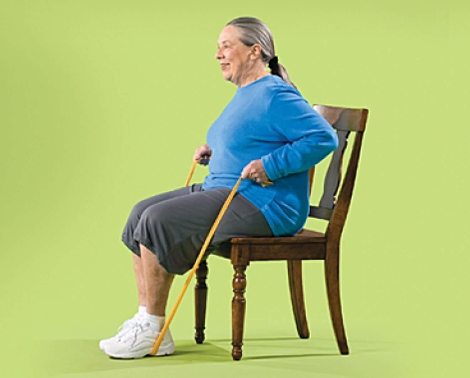 Seated Row with Resistance Band Strength Exercise for Seniors