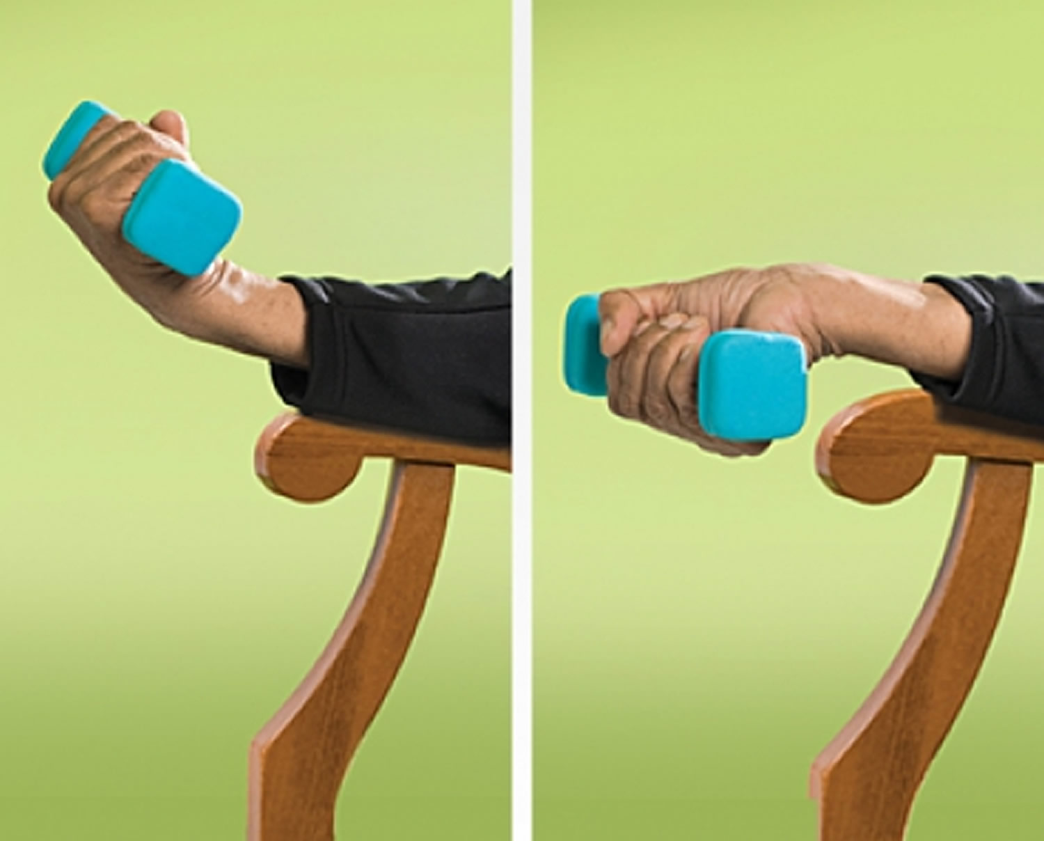 Wrist Curl strength exercise for seniors