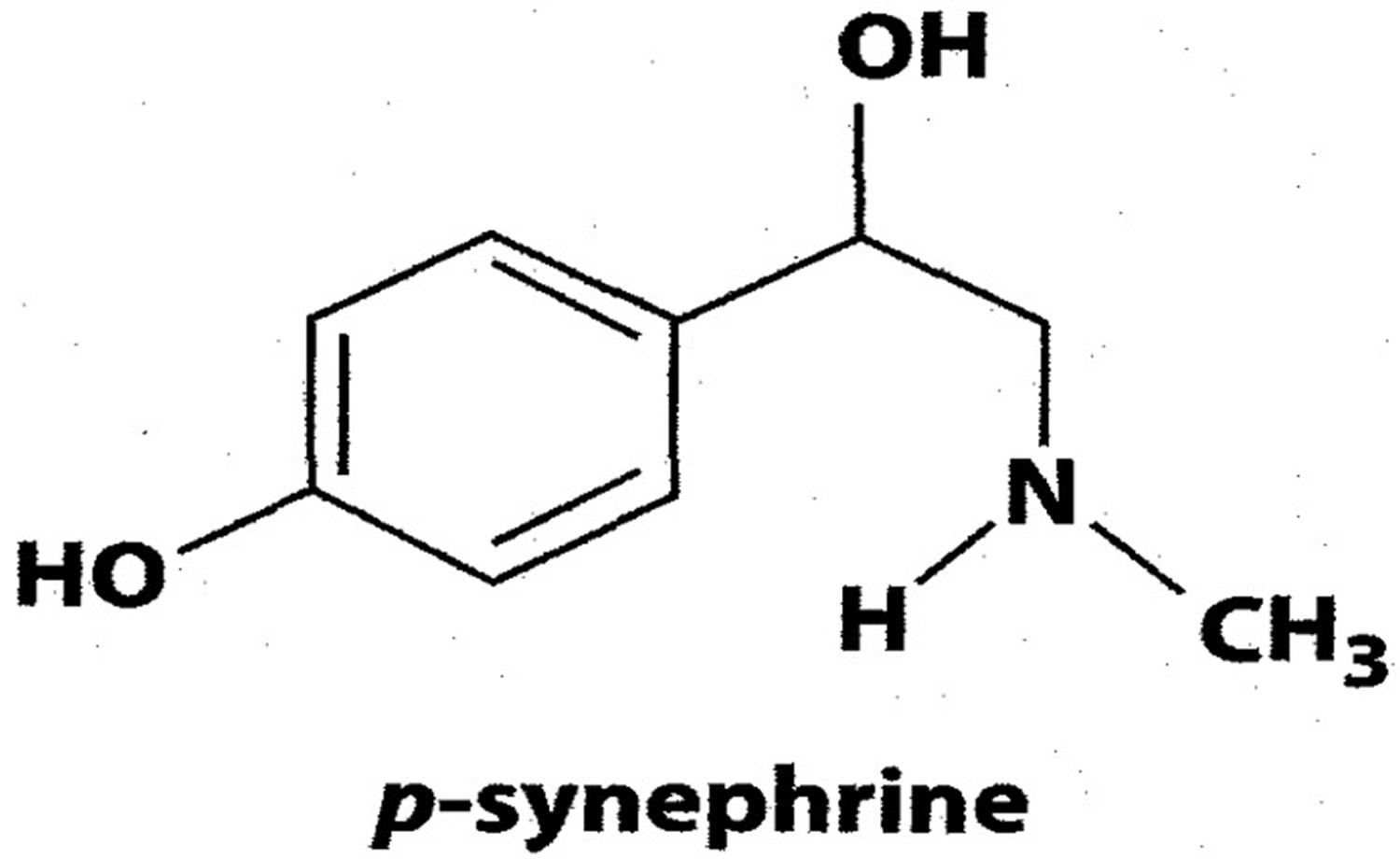 Chemical structure of p-synephrine