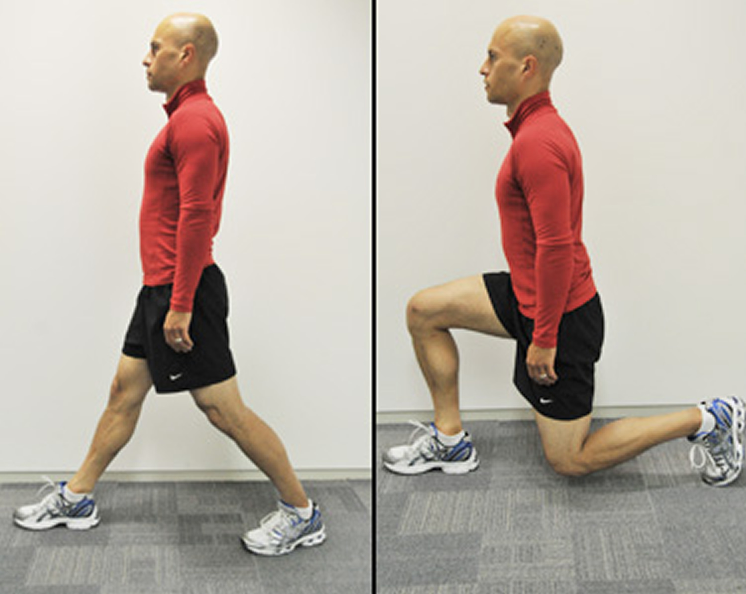 Lunges exercise for knee pain