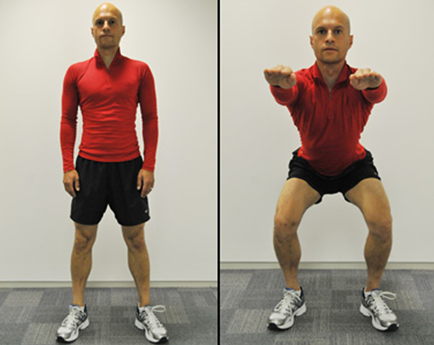 Squats exercise for knee pain