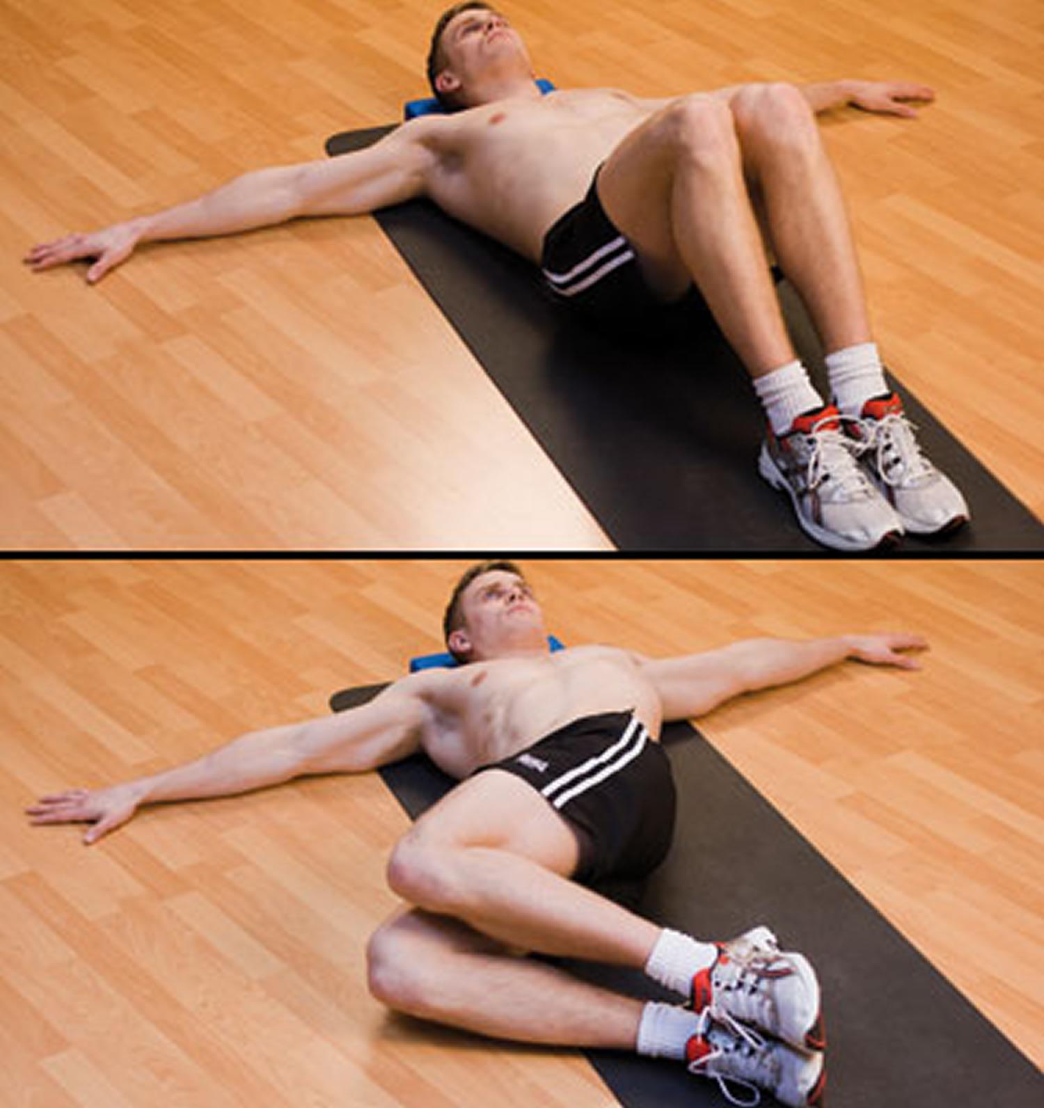 lower back pain - knee rolls exercise