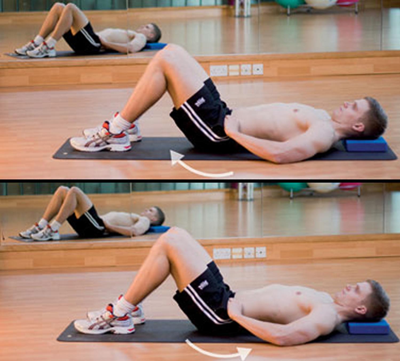 lower back pain - pelvic tilts exercise