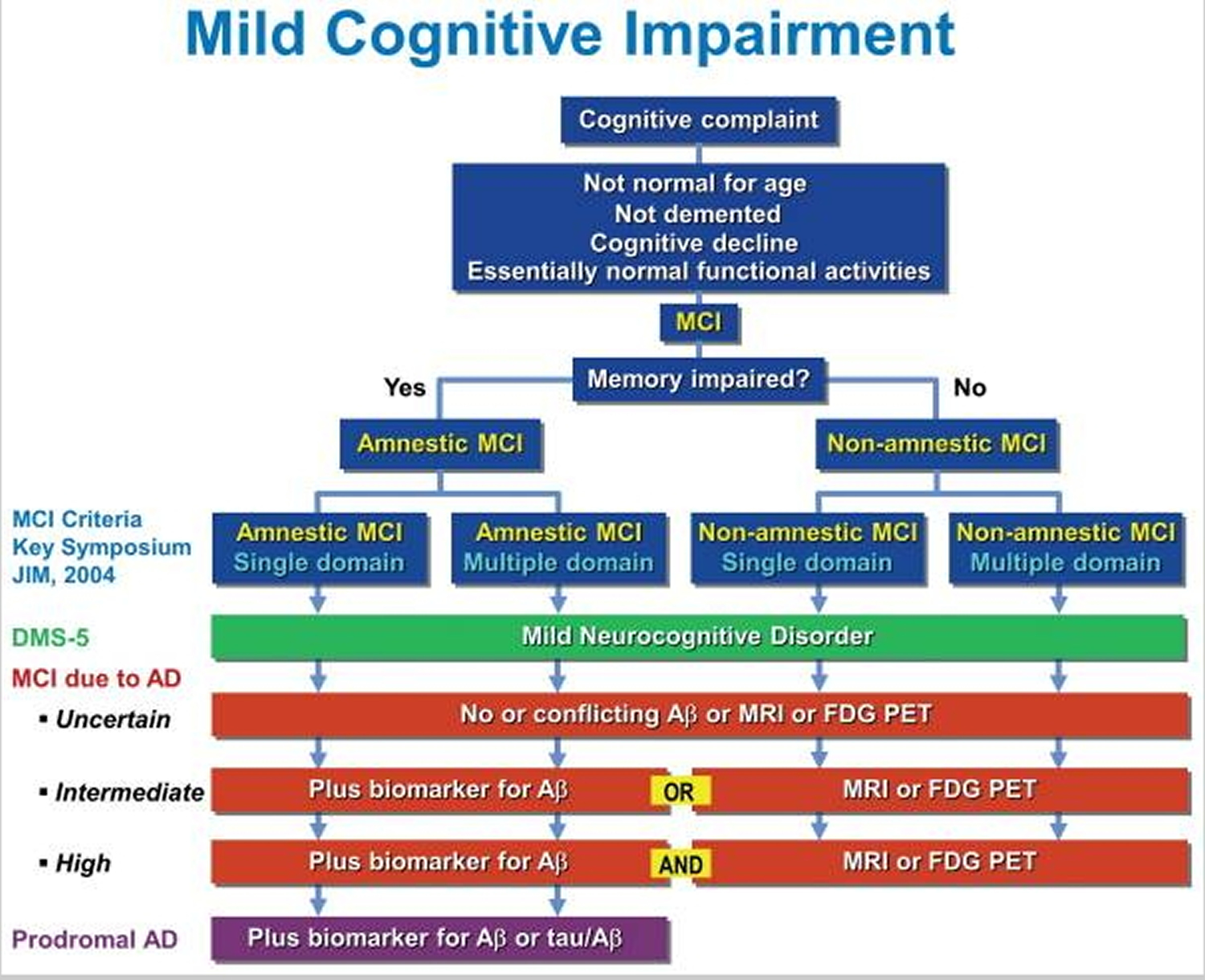 Mild cognitive impairment diagnostic criteria
