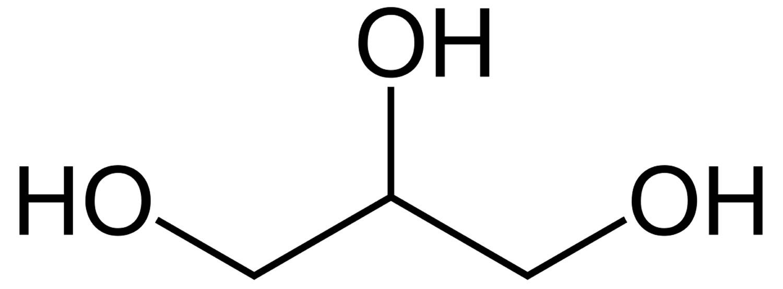 Glycerol molecule structure