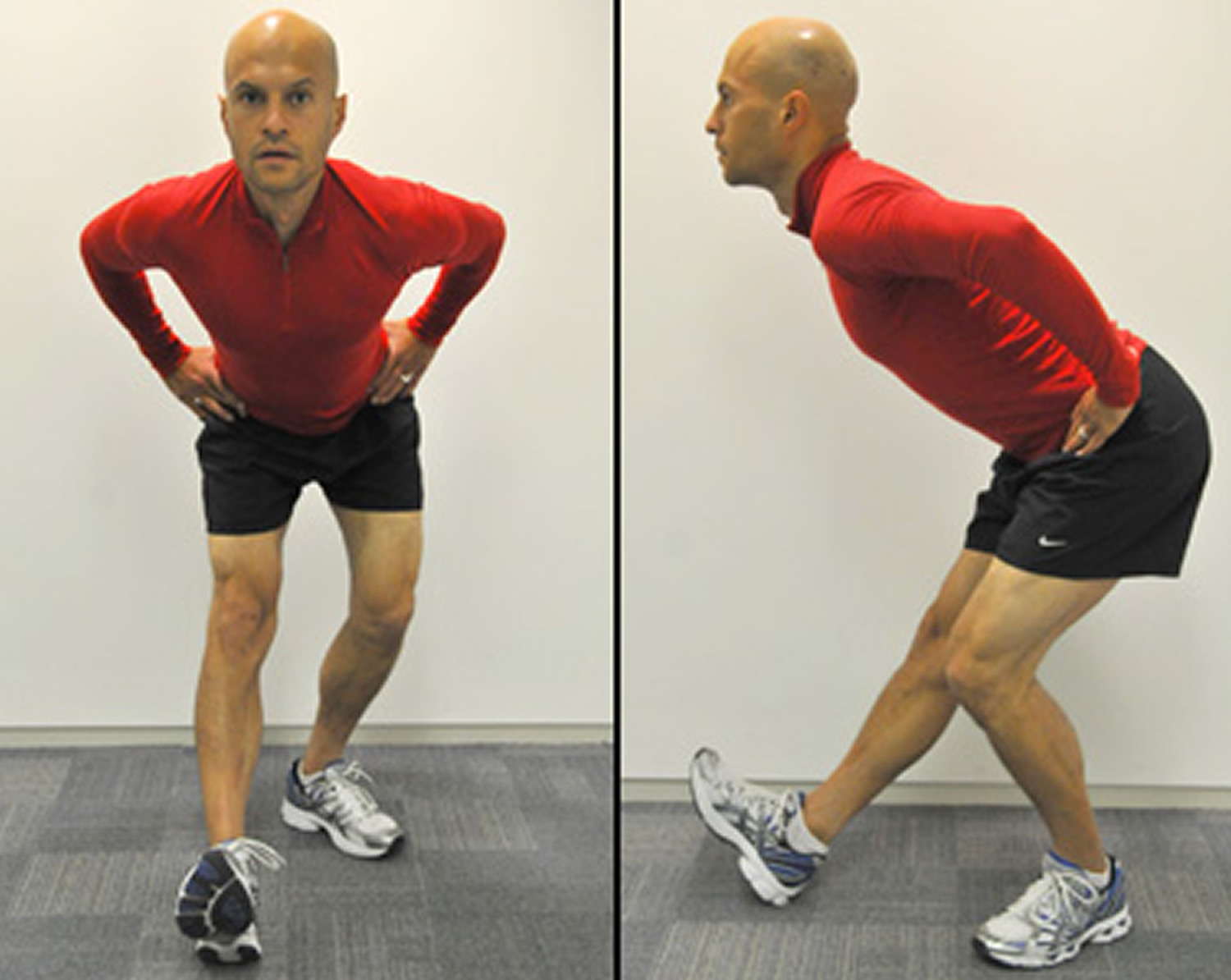 Hamstring stretch after running