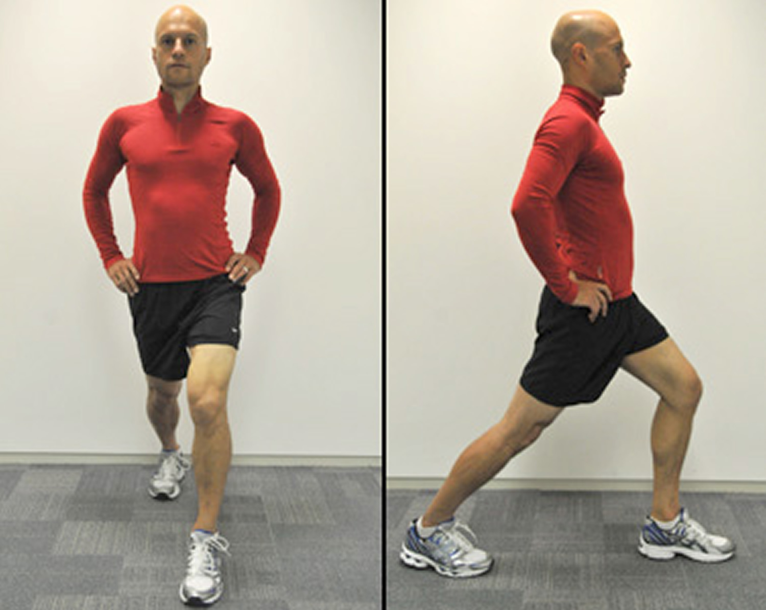 Hip flexor stretch after running
