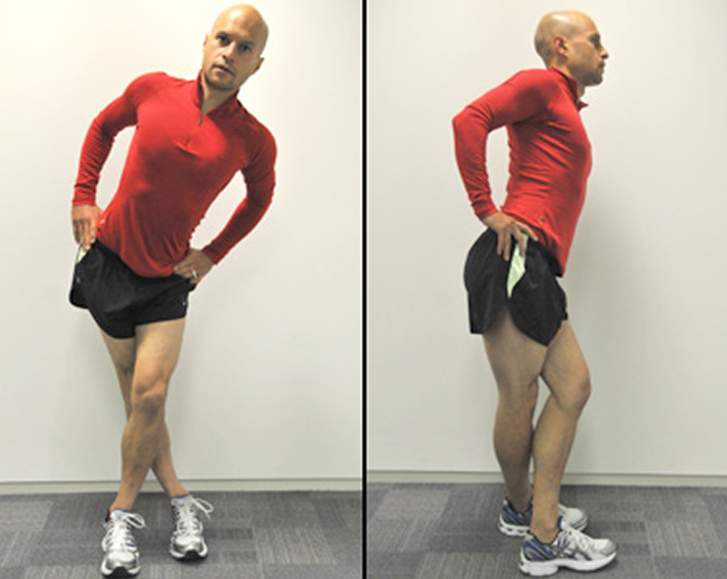Iliotibial band stretch after running