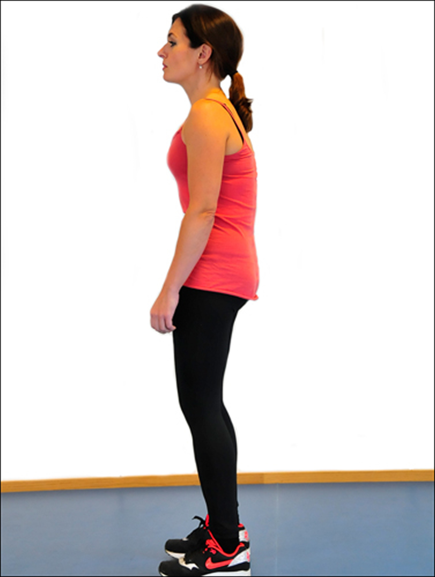 Standing with a flat back posture