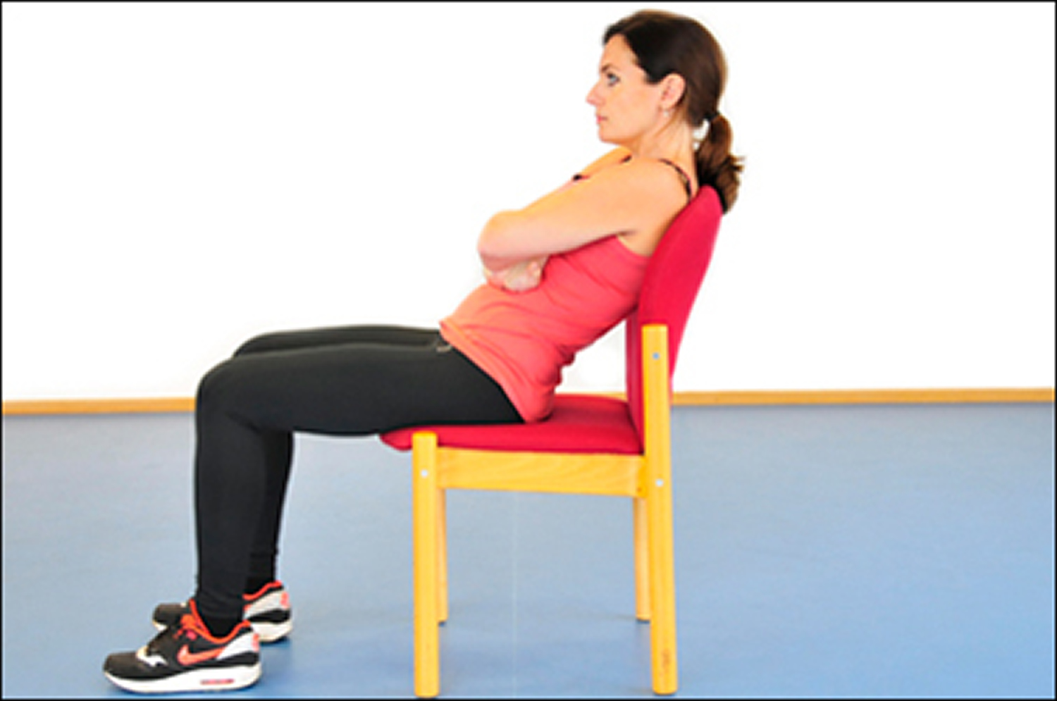 bad sitting posture - slouching in a chair