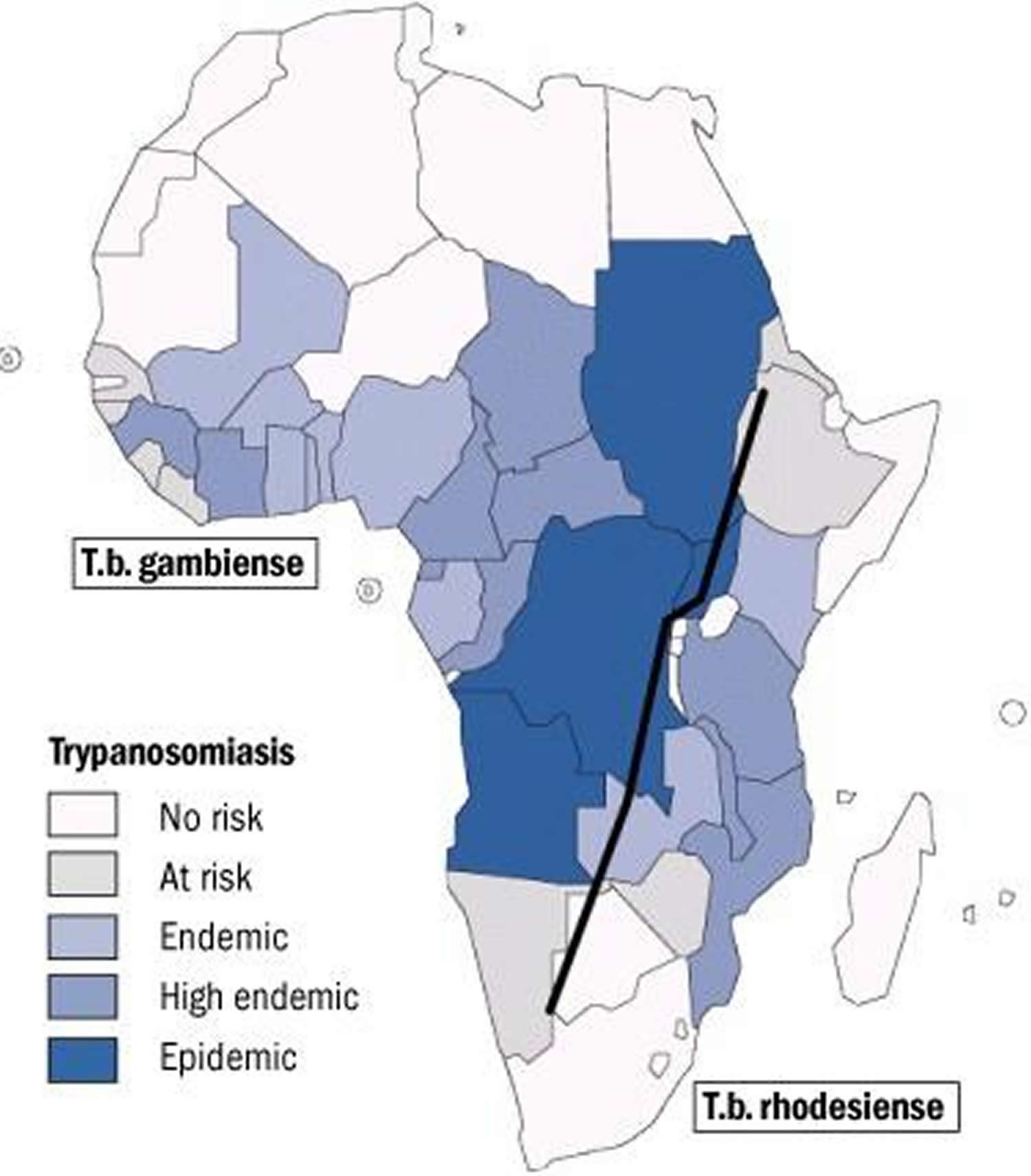 African sleeping sickness geographic distribution